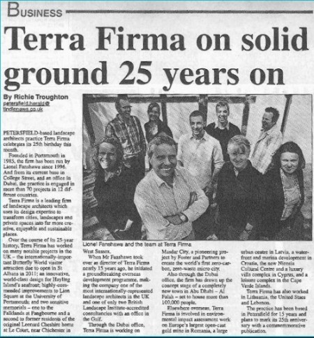 terra firma newspaper article 25 years landscape architects