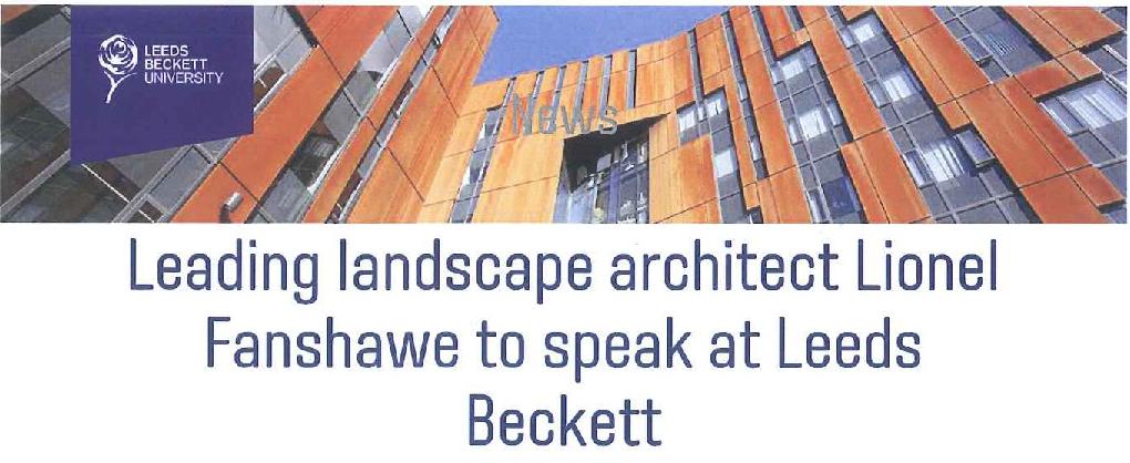 Lionel Fanshawe talks at Leeds Beckett