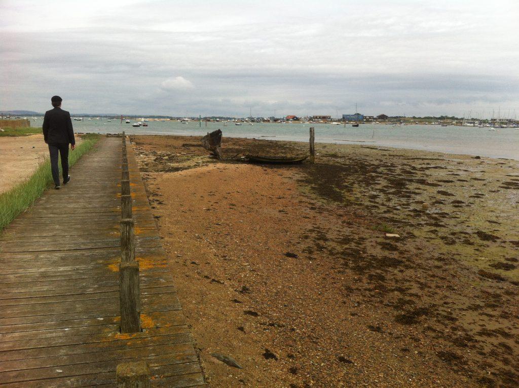 boardwalk at Milton locks