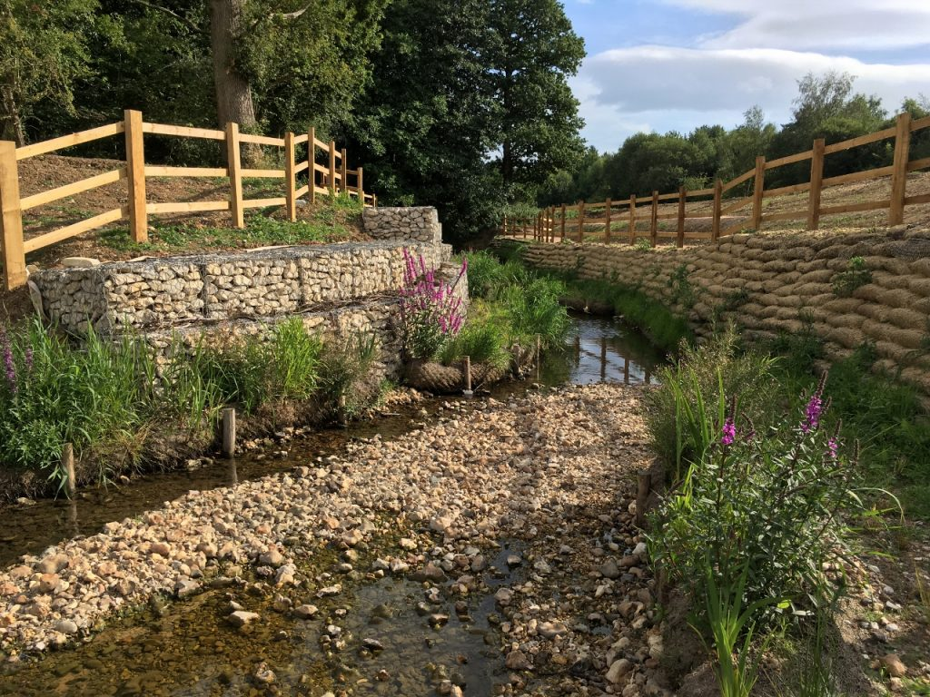 Hermitage Stream soon after completion