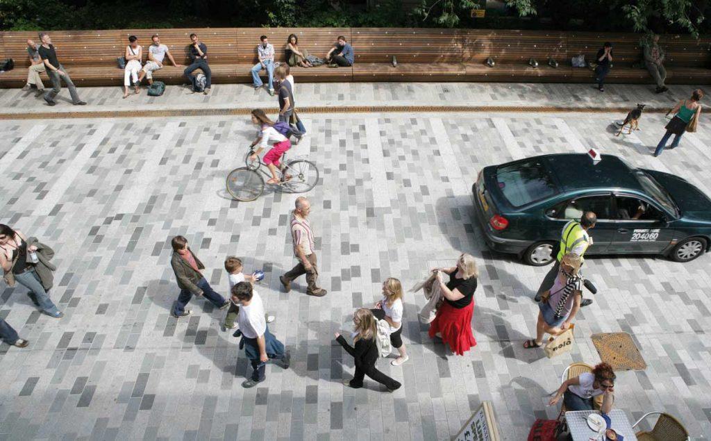 Pedestrianization of New Road, Brighton. Photo credit: https://gehlpeople.com/cases/new-road-brighton-uk/